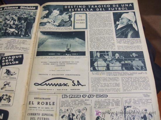 Coleccionismo deportivo: REVISTA BARÇA - 21 JUNIO 1956 - Nº 27 - PORTADA VILLAVERDE, EULOGIO MARTINEZ Y KUBALA - - Foto 4 - 24804293