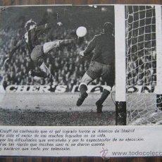 Coleccionismo deportivo: RECORTE DE PERIODICO GOL DE CRUYFF A REINA CF BARCELONA AT MADRID LIGA 73-74 BARÇA 11X12 CENTIMETROS. Lote 25453724
