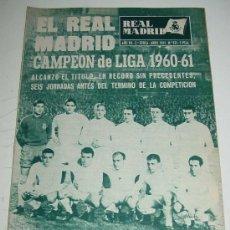 Coleccionismo deportivo: ANTIGUA REVISTA DEL REAL MADRID - FUTBOL - ABRIL 1961 - Nº 131 - EN PORTADA FELIX RUIZ GABARI - MID. Lote 19251029