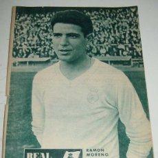 Coleccionismo deportivo: ANTIGUA REVISTA DEL REAL MADRID - FUTBOL - OCTUBRE 1964 - Nº 173 - EN PORTADA FELIX RUIZ GABARI - M. Lote 18310429