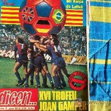 Coleccionismo deportivo: DICEN-Nº5138-AÑO 1981-POSTER COLOR BARCELONA 80-81. Lote 142438722