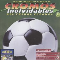 Coleccionismo deportivo: FASCÍCULO DE FÚTBOL RESUMEN TEMPORADA 1980/81. Lote 19384578