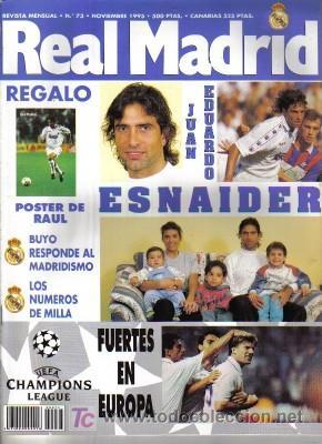 REVISTA REAL MADRID Nº 73, DE 1995 (Coleccionismo Deportivo - Revistas y Periódicos - otros Fútbol)