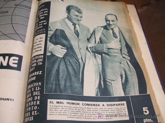 Coleccionismo deportivo: REVISTA BARÇA - 53 REVISTAS ENCUADERNADAS - NUMEROS 265 AL 317 - AÑO 1961 - F.C. BARCELONA - - Foto 10 - 27210258