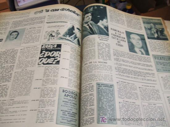 Coleccionismo deportivo: REVISTA BARÇA - 53 REVISTAS ENCUADERNADAS - NUMEROS 265 AL 317 - AÑO 1961 - F.C. BARCELONA - - Foto 11 - 27210258