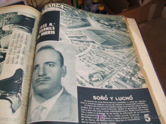 Coleccionismo deportivo: REVISTA BARÇA - 53 REVISTAS ENCUADERNADAS - NUMEROS 265 AL 317 - AÑO 1961 - F.C. BARCELONA - - Foto 12 - 27210258