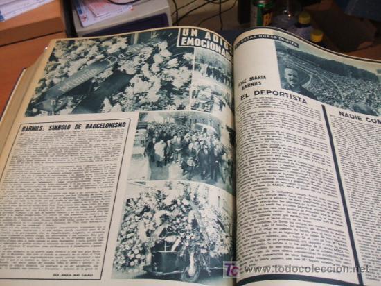 Coleccionismo deportivo: REVISTA BARÇA - 53 REVISTAS ENCUADERNADAS - NUMEROS 265 AL 317 - AÑO 1961 - F.C. BARCELONA - - Foto 13 - 27210258