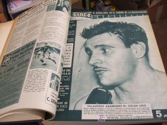 Coleccionismo deportivo: REVISTA BARÇA - 53 REVISTAS ENCUADERNADAS - NUMEROS 265 AL 317 - AÑO 1961 - F.C. BARCELONA - - Foto 2 - 27210258