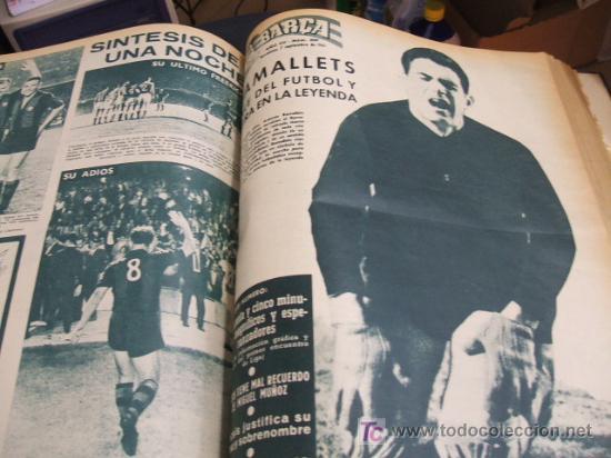 Coleccionismo deportivo: REVISTA BARÇA - 53 REVISTAS ENCUADERNADAS - NUMEROS 265 AL 317 - AÑO 1961 - F.C. BARCELONA - - Foto 3 - 27210258