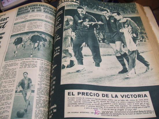 Coleccionismo deportivo: REVISTA BARÇA - 53 REVISTAS ENCUADERNADAS - NUMEROS 265 AL 317 - AÑO 1961 - F.C. BARCELONA - - Foto 5 - 27210258