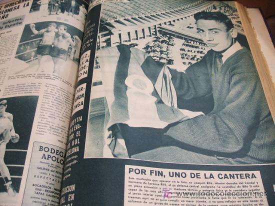 Coleccionismo deportivo: REVISTA BARÇA - 53 REVISTAS ENCUADERNADAS - NUMEROS 265 AL 317 - AÑO 1961 - F.C. BARCELONA - - Foto 6 - 27210258