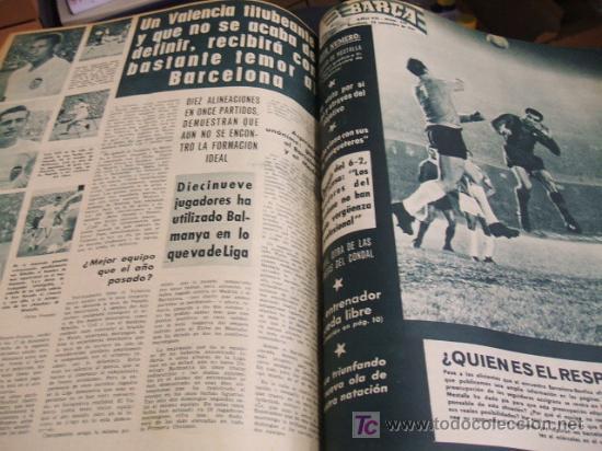 Coleccionismo deportivo: REVISTA BARÇA - 53 REVISTAS ENCUADERNADAS - NUMEROS 265 AL 317 - AÑO 1961 - F.C. BARCELONA - - Foto 8 - 27210258