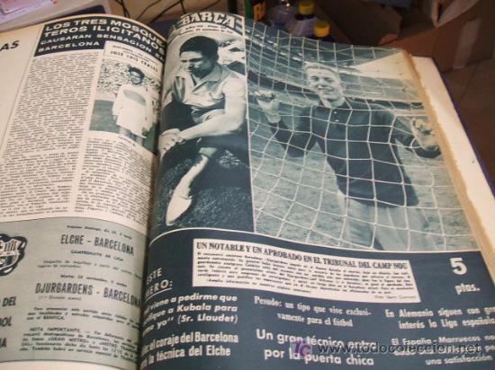 Coleccionismo deportivo: REVISTA BARÇA - 53 REVISTAS ENCUADERNADAS - NUMEROS 265 AL 317 - AÑO 1961 - F.C. BARCELONA - - Foto 9 - 27210258