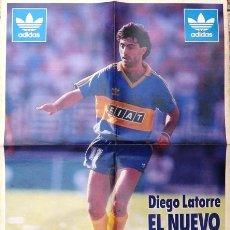 Coleccionismo deportivo: EL GRAFICO - POSTER DIEGO LATORRE, BOCA JUNIORS - 1994 - 54 CM X 41 CM - IMPECABLE ESTADO. Lote 25500660