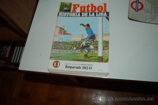 HISTORIA DE LA LIGA Nº 13: TEMPORADA 43-44. BANDERÍN Y CAMPO DEL REAL BETIS BALOMPIÉ (Coleccionismo Deportivo - Revistas y Periódicos - otros Fútbol)