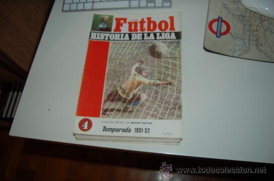 HISTORIA DE LA LIGA Nº 4: TEMPORADA 31-32. BANDERÍN Y CAMPO DEL FC. BARCELONA (Coleccionismo Deportivo - Revistas y Periódicos - otros Fútbol)
