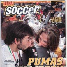 Coleccionismo deportivo: SOCCERMANIA PUMAS CAMPEON 2004. Lote 27599129