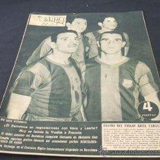 Coleccionismo deportivo: REVISTA BARÇA - Nº 80 - 27 JUNIO 1957 - PORTADA, VILLAVERDE, EVARISTO, EULOGIO Y HERMES - . Lote 21536272
