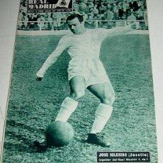 Collectionnisme sportif: ANTIGUA REVISTA DEL REAL MADRID - FUTBOL - MARZO DE 1957 - Nº 80 - EN PORTADA JOSE IGLESIAS JOSEITO,. Lote 21507507