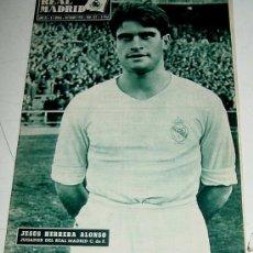 Coleccionismo deportivo: ANTIGUA REVISTA DEL REAL MADRID - FUTBOL - DICIEMBRE DE 1958 - Nº 101 - EN PORTADA JESUS HERRERA ALO. Lote 21508294