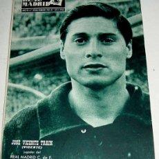 Coleccionismo deportivo: ANTIGUA REVISTA DEL REAL MADRID - FUTBOL - FEBRERO DE 1961 - Nº 129 - EN PORTADA JOSE VICENTE TRAIN,. Lote 21508629