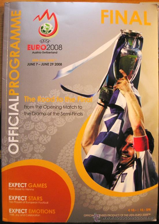 PROGRAMA OFICIAL UEFA FASE FINAL EUROCOPA 2008 130 PAGINAS A TODO COLOR (Coleccionismo Deportivo - Revistas y Periódicos - otros Fútbol)