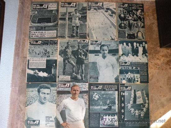 76 REVISTAS REAL MADRID AÑOS 50-60-70-80 (Coleccionismo Deportivo - Revistas y Periódicos - otros Fútbol)