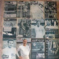 Coleccionismo deportivo: 76 REVISTAS REAL MADRID AÑOS 50-60-70-80. Lote 22087295