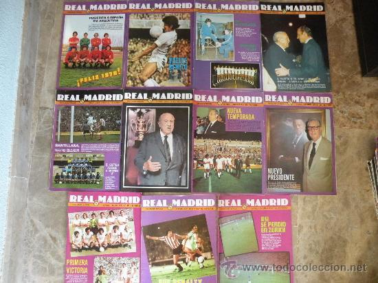 Coleccionismo deportivo: 76 REVISTAS REAL MADRID AÑOS 50-60-70-80 - Foto 4 - 22087295