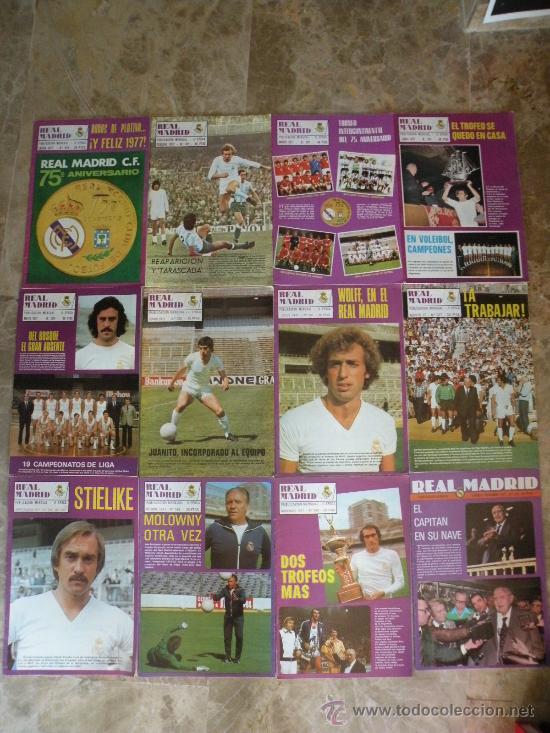 Coleccionismo deportivo: 76 REVISTAS REAL MADRID AÑOS 50-60-70-80 - Foto 5 - 22087295