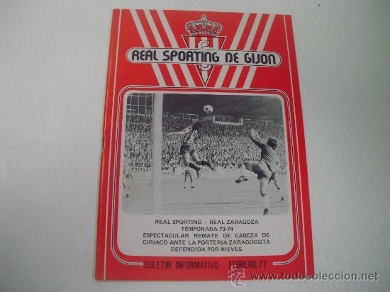 REAL SPORTING DE GIJON - BOLETIN INFORMATIVO FEBRERO 1.977 - BARCELONA ATLETICO (Coleccionismo Deportivo - Revistas y Periódicos - otros Fútbol)