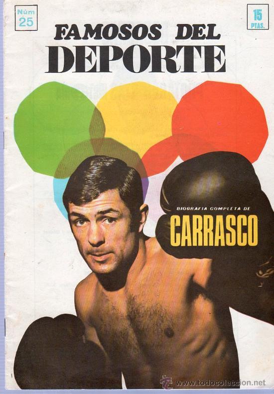 REVISTA. FAMOSOS DEL DEPORTE. BIOGRAFIA COMPLETA DE CARRASCO. Nº 25. (Coleccionismo Deportivo - Revistas y Periódicos - otros Fútbol)