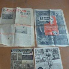 Coleccionismo deportivo: LOTE DE REVISTAS Y DIARIOS ANTIGUOS DE DEPORTES. FUTBOL, MUNDO DEPORTIVO, OLIMPIA, TODOS AÑOS 50S. Lote 27611149
