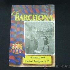 Coleccionismo deportivo: BOLETIN - C.F. BARCELONA - NAVIDADES 1950 - BARCELONA - FUSSBALL FRANKFURT - PORTADA, KUBALA. Lote 27256434