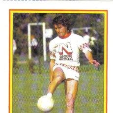 Collezionismo sportivo: FICHA DE LA REVISTA ONZE DE BLANC CON EL MONTPELLIER - GOLY. Lote 23513924
