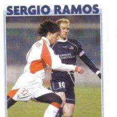 Collezionismo sportivo: FICHA DE LA REVISTA ONZE DE SERGIO RAMOS CON EL SEVILLA - GOLY. Lote 23701297
