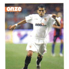 Collezionismo sportivo: FICHA DE LA REVISTA ONZE DE DANIEL ALVES CON EL SEVILLA - GOLY. Lote 23701652