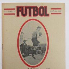 Coleccionismo deportivo: REVISTA FUTBOL, Nº103, AÑO 3. PORTADA: PORTERO DEL A REGIÓN CENTRO. Lote 23729365