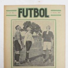 Coleccionismo deportivo: REVISTA FUTBOL, Nº104, AÑO 3. 5 DIC. 1921. PARTIDO SPARTA DE PRAGA - NUEMBERG F.C.. Lote 23729369