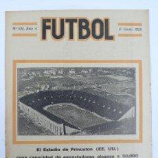 Coleccionismo deportivo: REVISTA FUTBOL, Nº109, AÑO 4. PORTADA: EL ESTADIO DE PRINCETON.. Lote 23729414