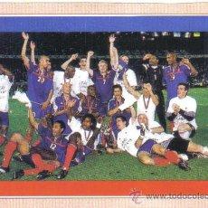 Coleccionismo deportivo: FICHA REVISTA ONZE DE EUROCOPA 2000 - FRANCIA CAMPEONA - GOLY. Lote 23737879