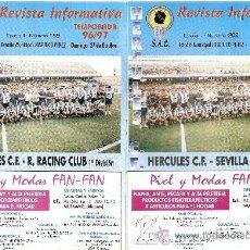 Coleccionismo deportivo: LOTE 2 REVISTAS HERCULES CF TEMPORADA 1996-97. Lote 23920453