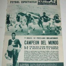 Coleccionismo deportivo: ANTIGUA REVISTA DEL REAL MADRID Nº 96 - JULIO 1958 - 32 PAGINAS - MIDE 31 X 22 CMS. - MUCHISIMAS FO. Lote 24090441