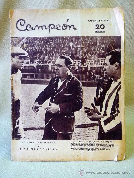 PERIODICO DEPORTIVO CAMPEON, 22 DE ABRIL, 20 CENTIMOS (Coleccionismo Deportivo - Revistas y Periódicos - otros Fútbol)