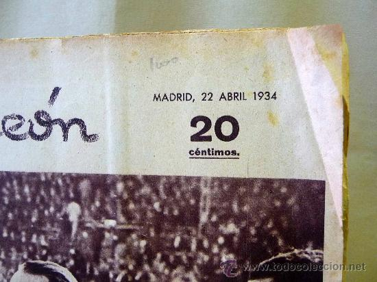 Coleccionismo deportivo: PERIODICO DEPORTIVO CAMPEON, 22 DE ABRIL, 20 CENTIMOS - Foto 3 - 24287085