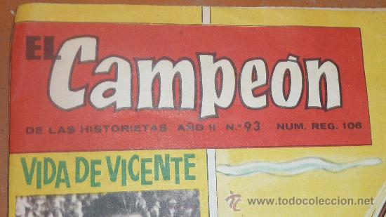 Coleccionismo deportivo: Comic antiguo de deportes. El campeon de las historietas. Deporte, futbol. Año II nº 93. - Foto 2 - 24595532