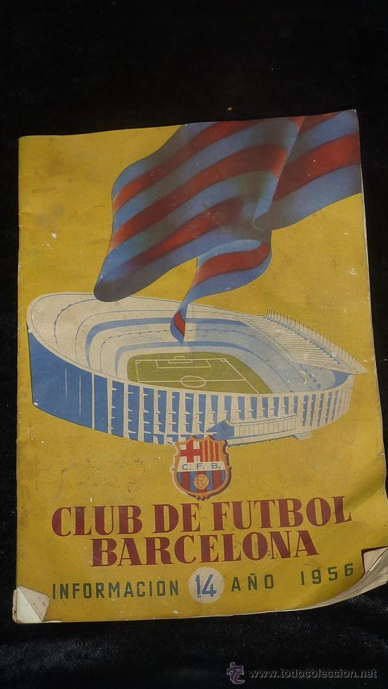 CLUB FUTBOL BARCELONA FCB. REVISTA INFORMACION 14 AÑO DE 1956. BARÇA. (Coleccionismo Deportivo - Revistas y Periódicos - otros Fútbol)