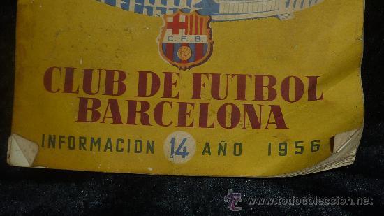 Coleccionismo deportivo: Club Futbol barcelona FCB. Revista informacion 14 año de 1956. barça. - Foto 2 - 24890326