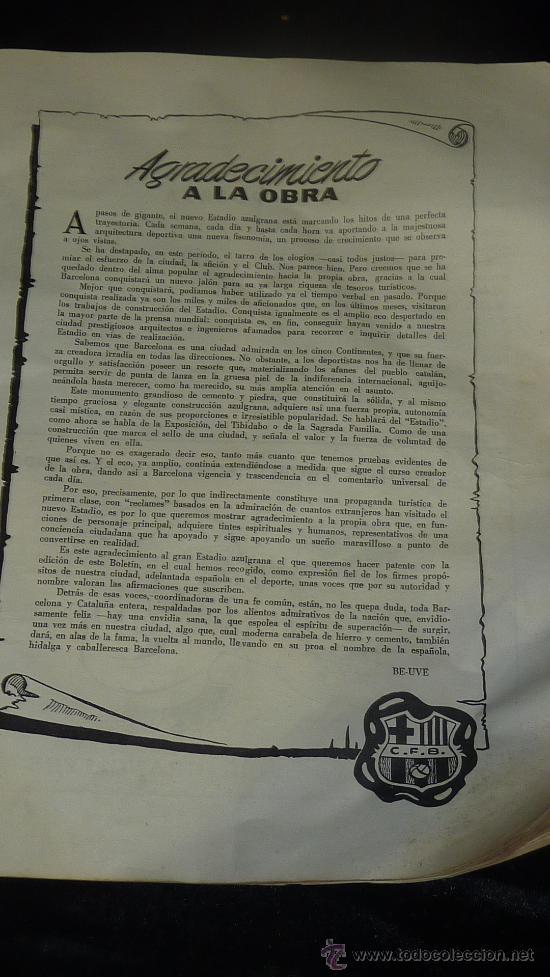 Coleccionismo deportivo: Club Futbol barcelona FCB. Revista informacion 14 año de 1956. barça. - Foto 4 - 24890326