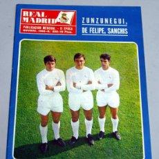 Coleccionismo deportivo: REVISTA REAL MADRID Nº 222 NOVIEMBRE 1968 ZUNZUNEGUI DE FELIPE SANCHÍS LÍNEA DEFENSIVA EQUIPO. Lote 25084992